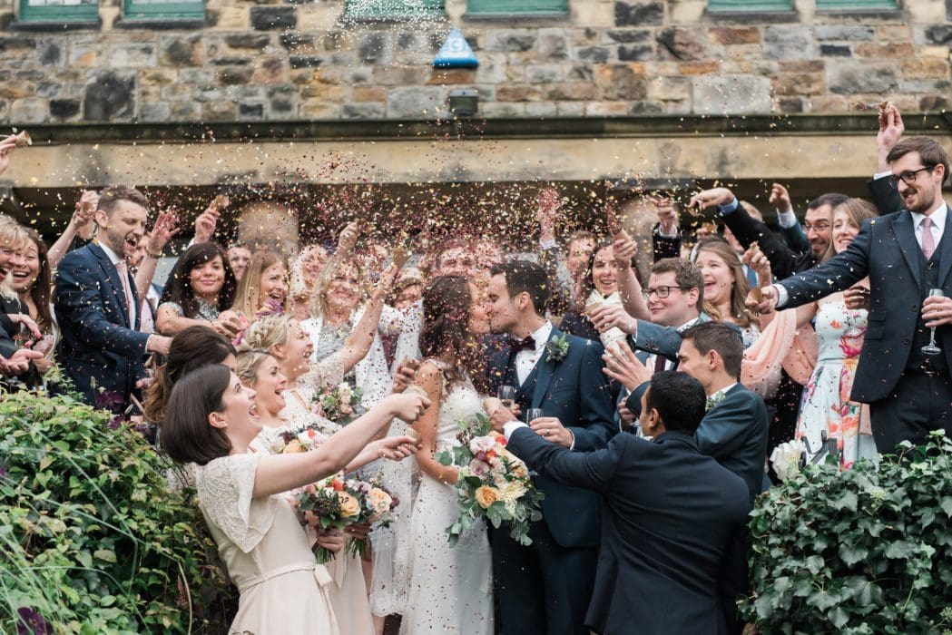 Whirlowbrook Hall confetti wedding photography