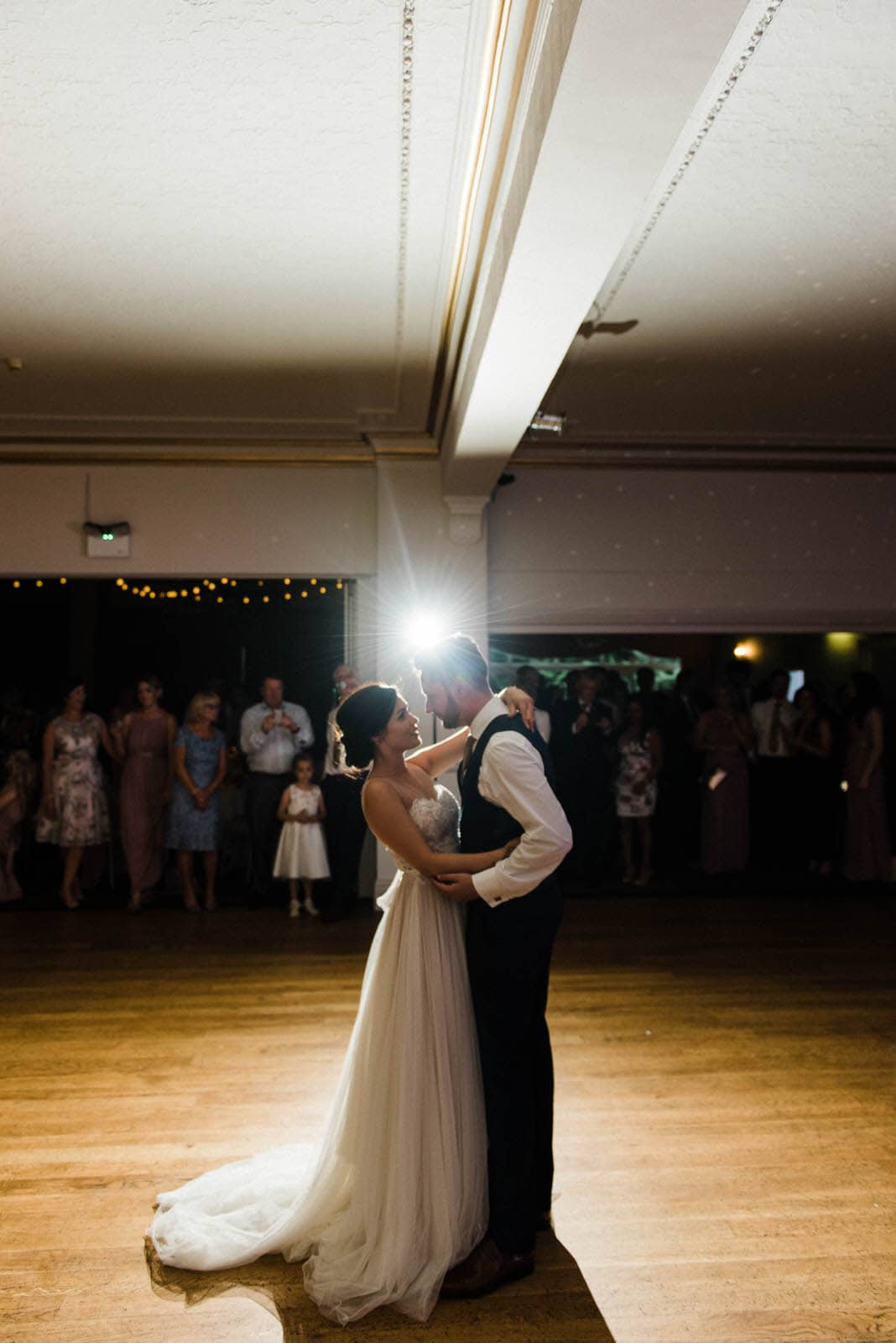 Bride and grooms first dance at Oaklands Hall Hotel