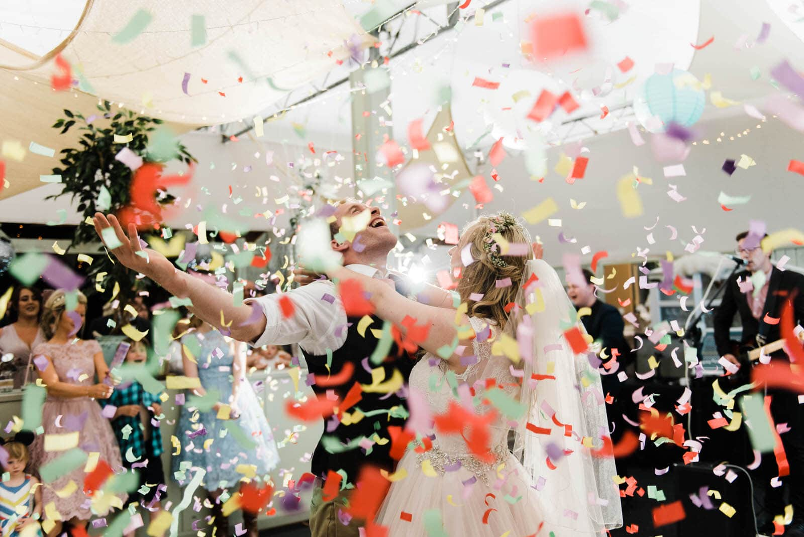 Confetti Cannons at a wedding in Newark