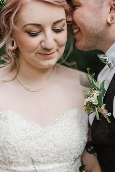 Bride and Groom portrait at Hirst Priory wedding