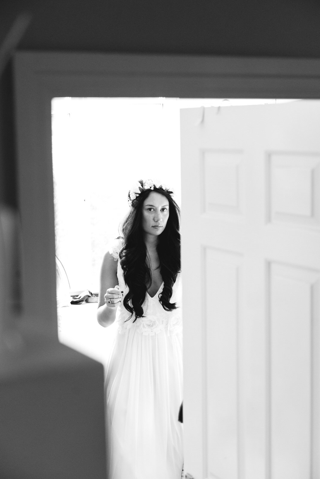 Bridal portrait at home in Skipton