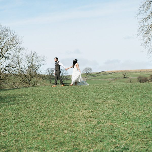Bride and Groom at North Yorkshire wedding