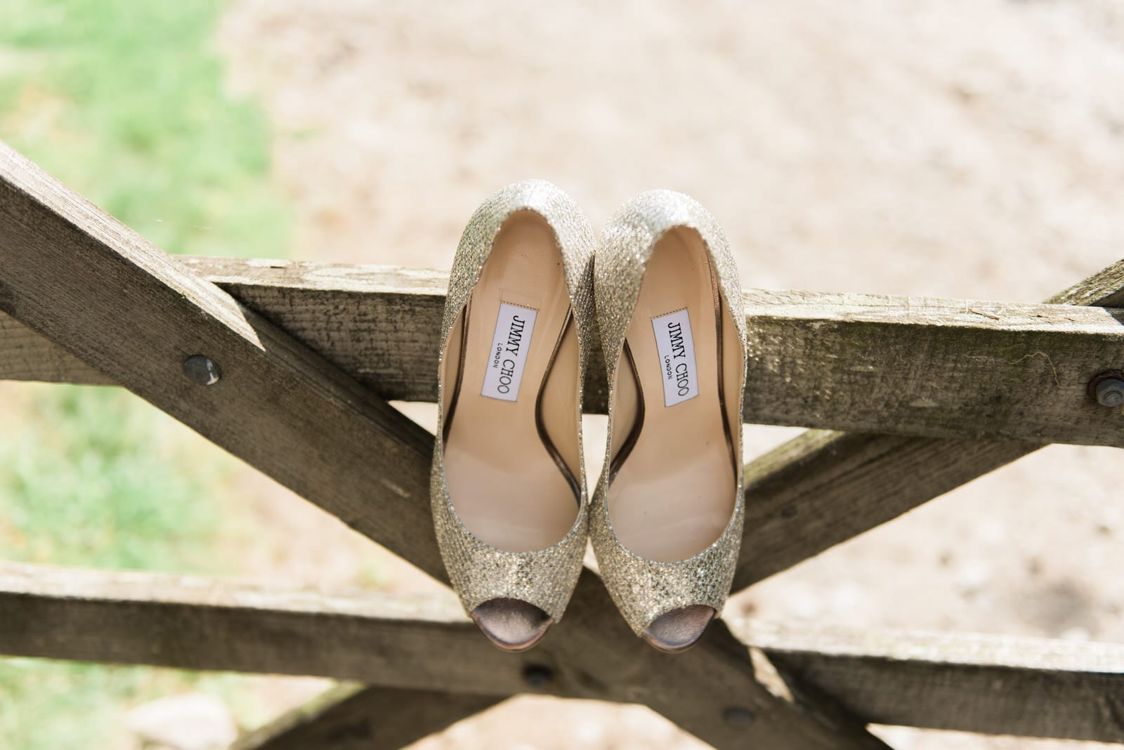Jimmy choo shoes at cressbrook hall