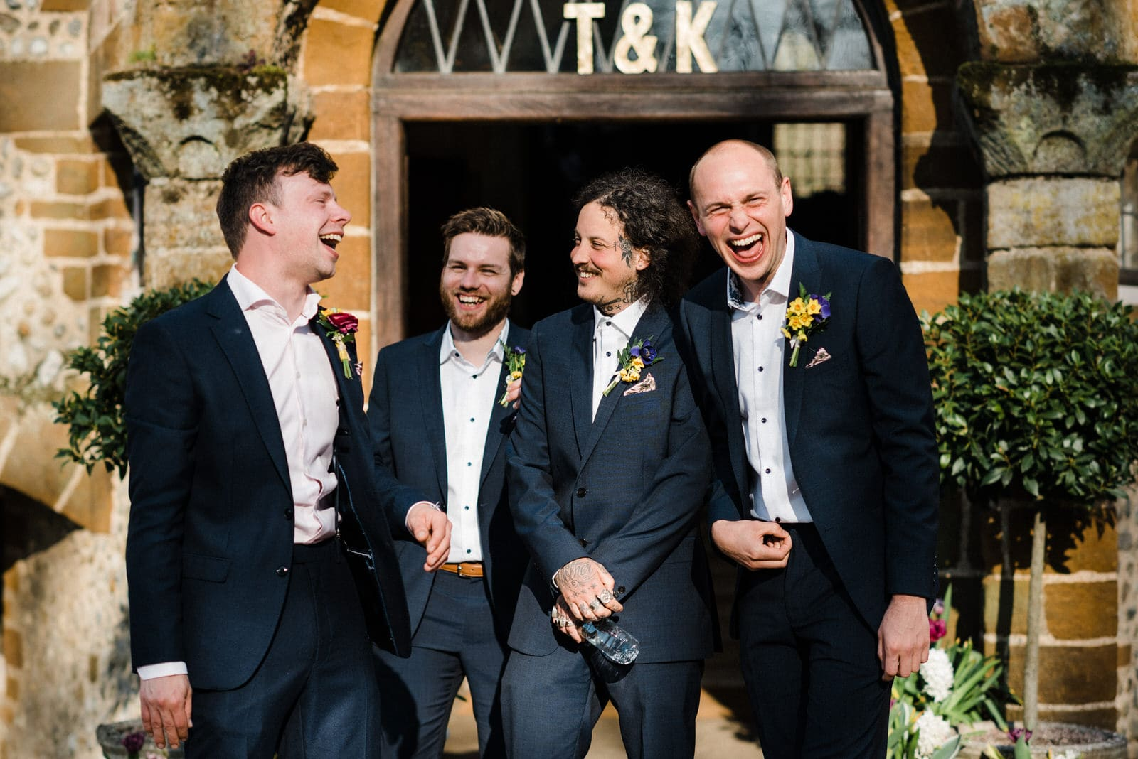 Groom & his groomsmen at Voewood wedding