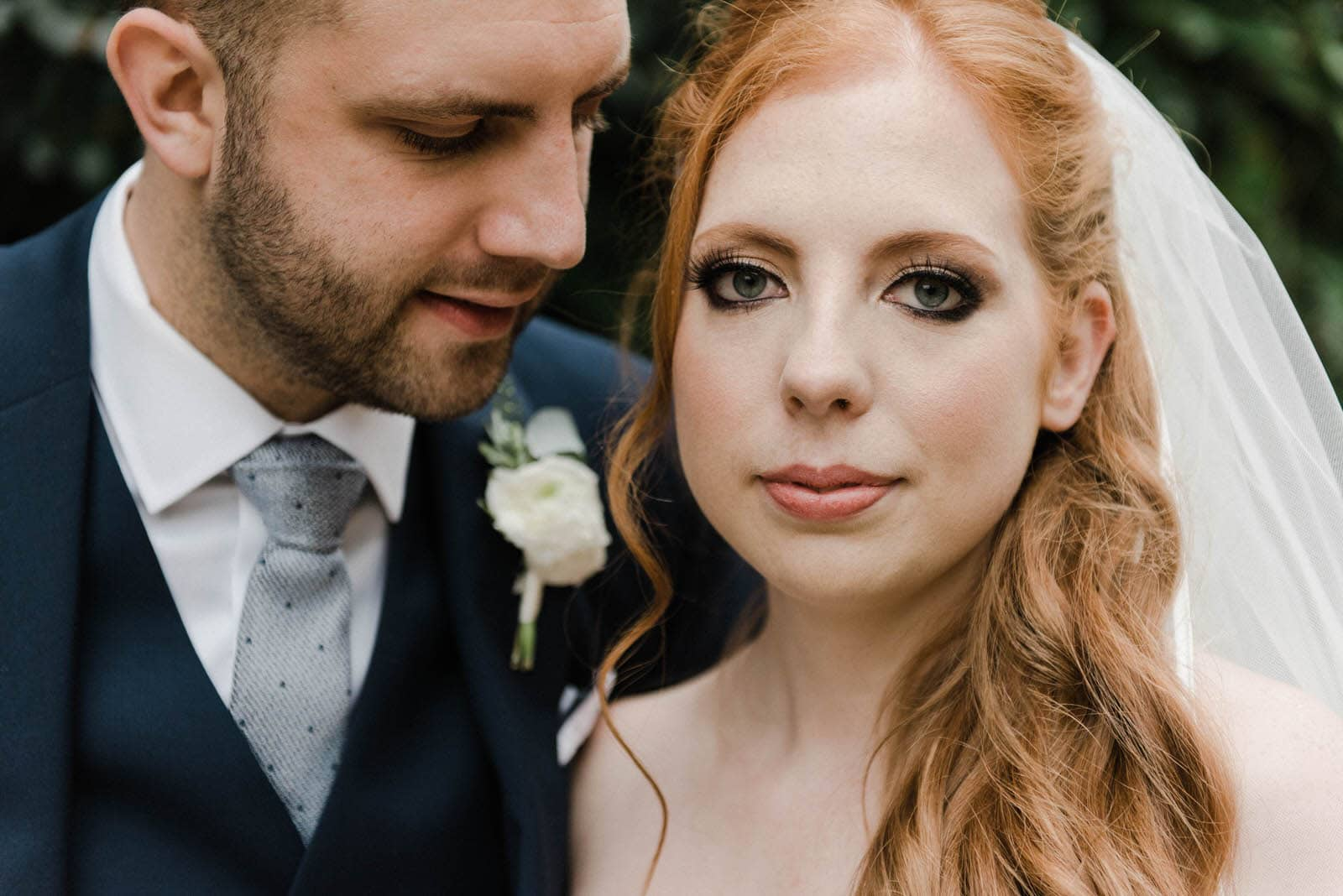 bride and groom portrait at Old Vicarage Boutique Wedding