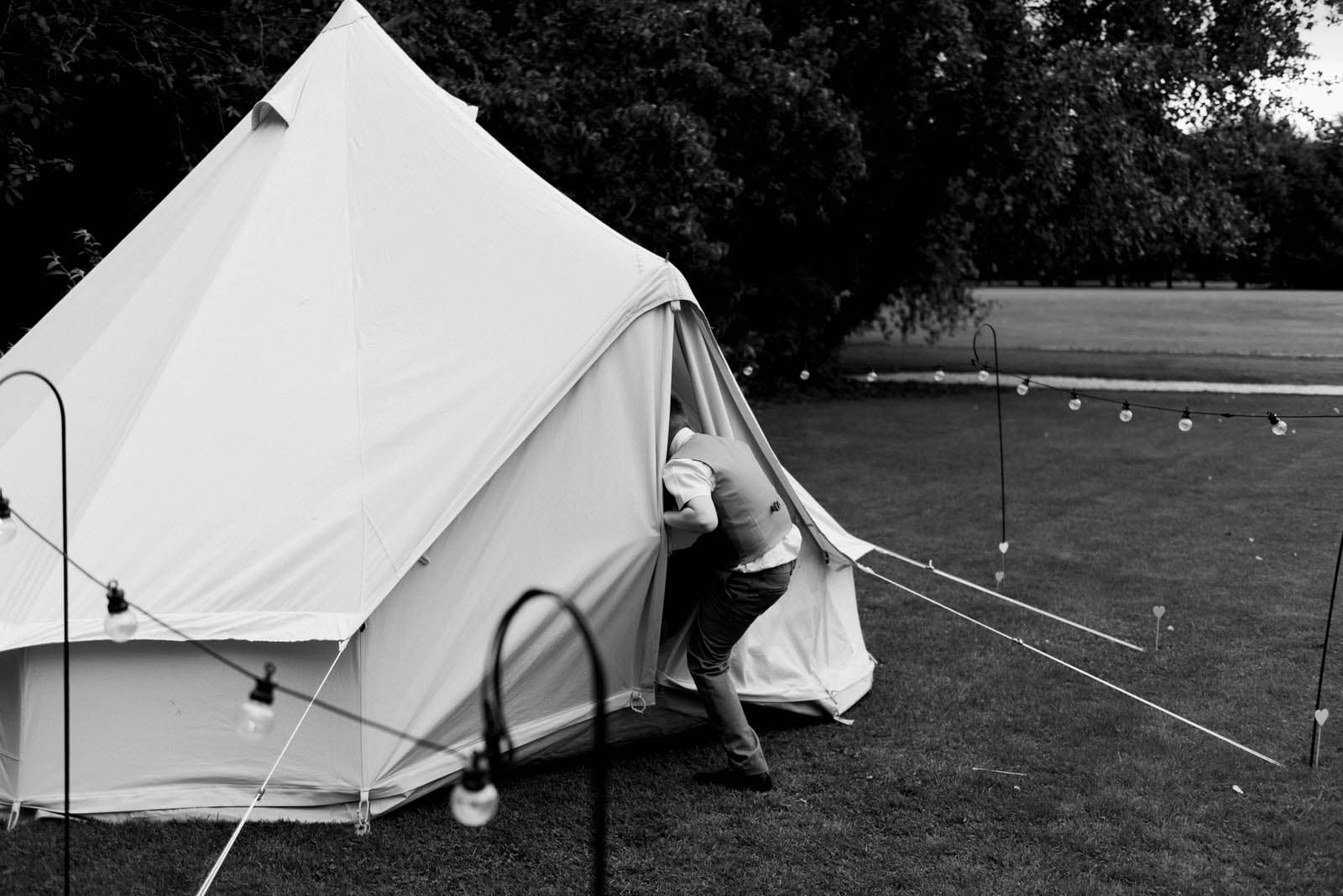 Wedding at Hirst Priory - tipi tents