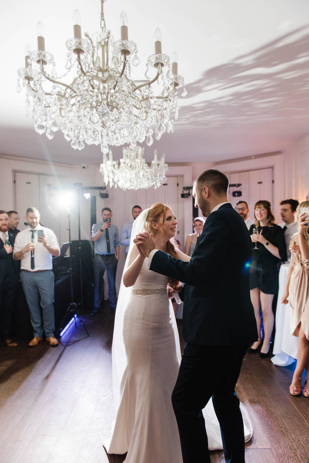 Bride and groom's first dance at the Old Vicarage wedding