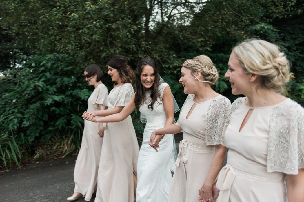Bride and bridesmaids group photography weddings