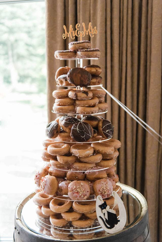 donut tower wedding cake