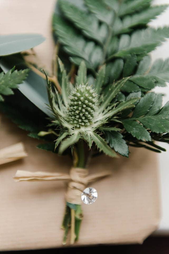 Grooms Green boutonniere