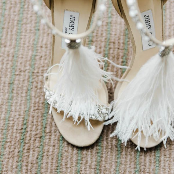 feather jimmy choos