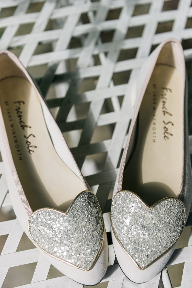 french sole flat wedding shoes with hearts