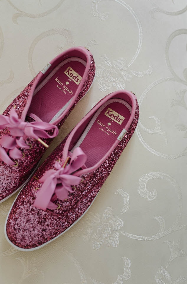 kate spade Pink  bridal trainers
