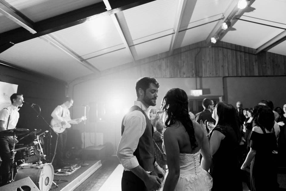 dancing at danby castle wedding